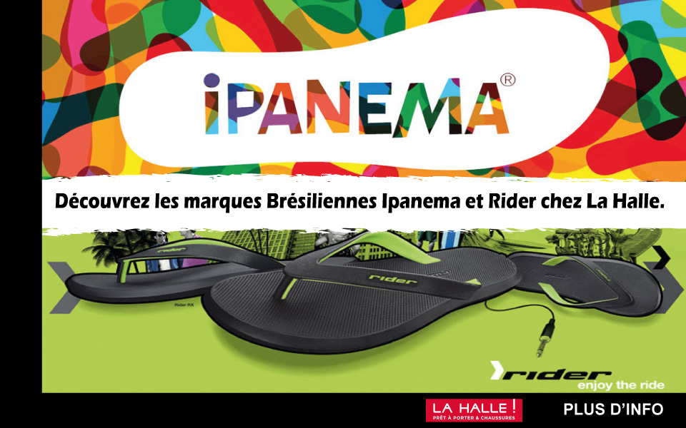 slide d'accueil la carte mode - ipanema rider